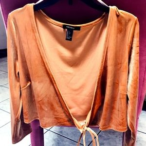 Forever 21 Long Sleeve Crop Top Size L